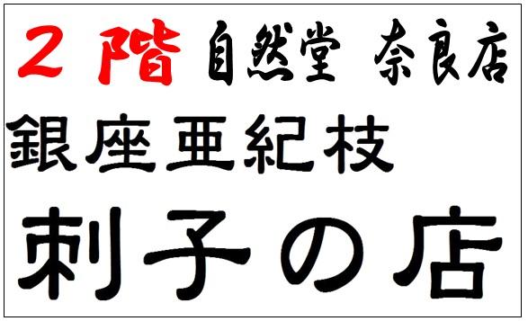 銀座亜紀枝 刺子の店 自然堂奈良店